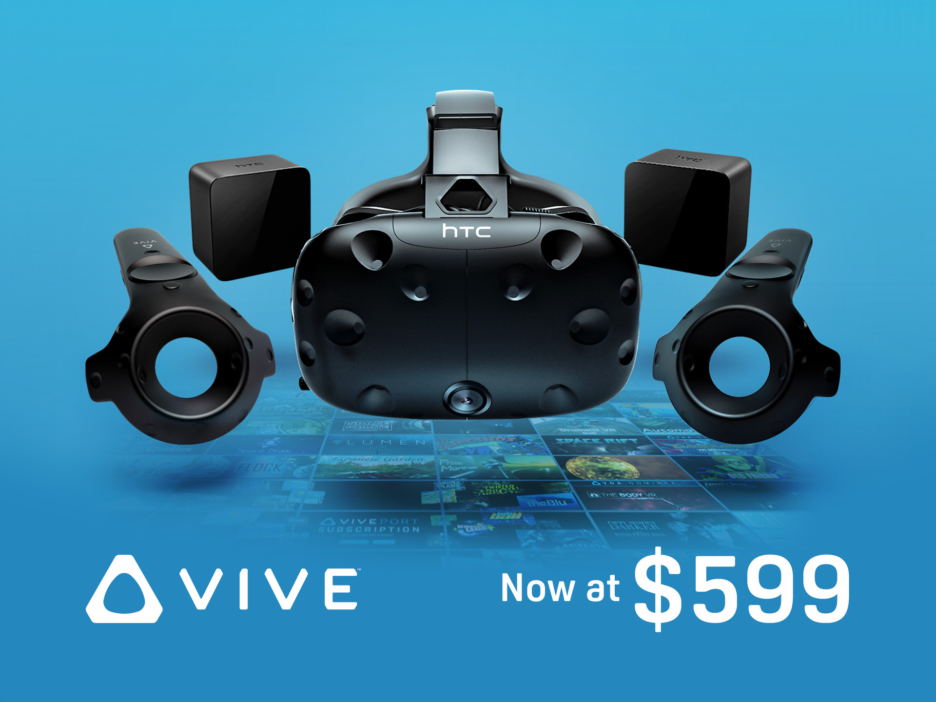 HTC lowers Vive price to compete with Facebook's Oculus